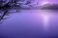 Calm lake cartoon