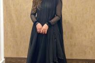 Aiman Khan, New Fashion Black Dress