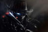 Shadow man with gun 4k t0