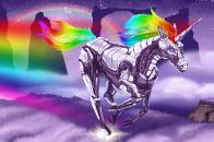 1280x800 Colorful Unicorn and Pegasus Wallpaper