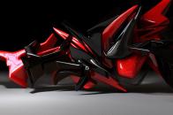 Red Black Abstract desktop background