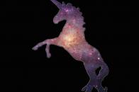 1024x800 Unicorn galaxy background desktop