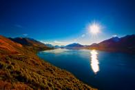 Amazing view of lake wakatipu new zealand