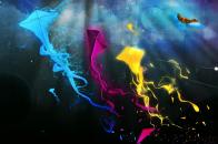 Colorful kites abstract desktop background 4k ultra wallpaper