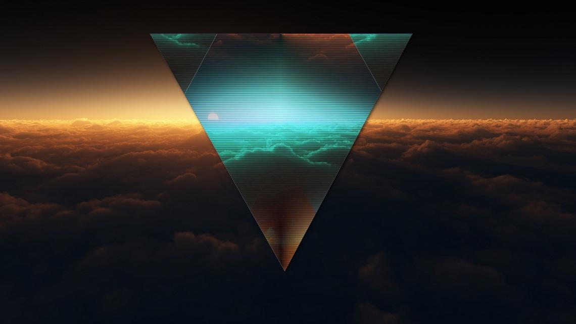 Triangle, shape, dark, figure 1920×1080 wallpaper