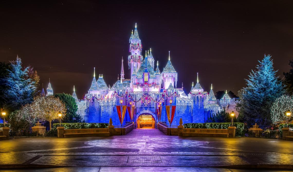 Castle, christmas,