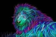 3D abstract colorful tiger 4k desktop background image