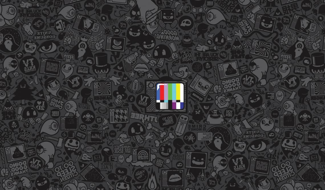 No signal tv vector art